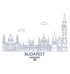 budapest city skyline vector image