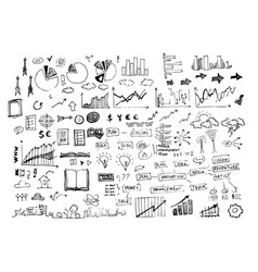 Business doodle icon and hand vector