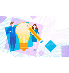 Business people with light bulb new creative idea vector