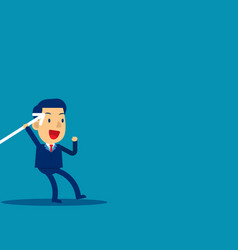 businessman throwing javelin concept cute vector image