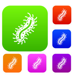 cell of dangerous virus set collection vector image