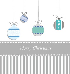 Christmas card cold tones vector