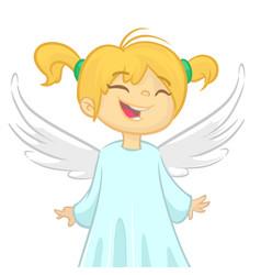 cute cartoon christmas angel vector image