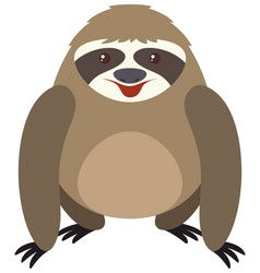 cute sloth with round body vector image