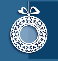 cutout christmas decoration vector image