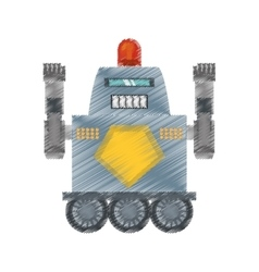 Drawing robot with warning alert support vector
