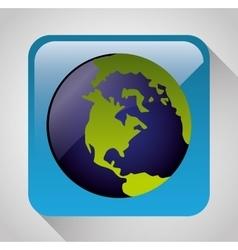 Earth planet graphic icon vector