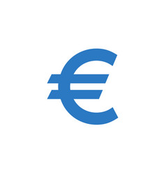 euro sign related glyph icon vector image