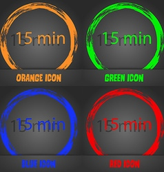 Fifteen minutes sign icon Fashionable modern style vector
