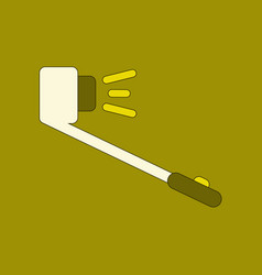 Flat icon on background selfie stick vector