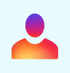 follower or user gradient icon isolated on blue ba vector image