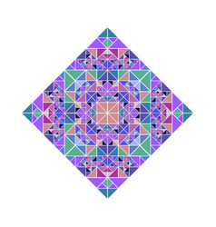 Geometrical abstract ornate isolated tiled mosaic vector