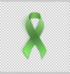 green ribbon on transparent background vector image