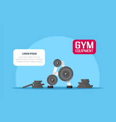 gym equipment set vector image