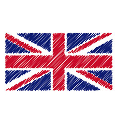 hand drawn national flag of united kingdom vector image