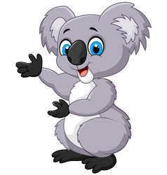 Happy cartoon koala vector