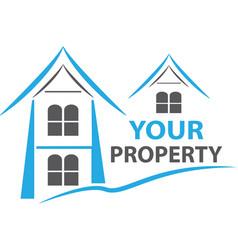 house property logo vector image