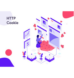 http cookie isometric modern flat design style vector image
