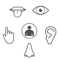 Human senses icon flat vector