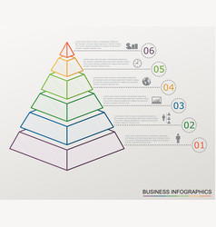 Infographic pyramid with numbers vector