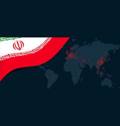 iran corona virus covid-19 pandemic outbreak world vector image
