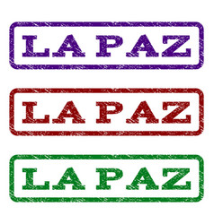 la paz watermark stamp vector image
