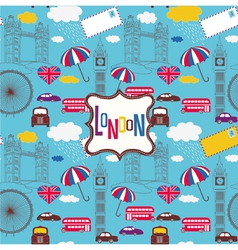 london screenprint design vector image