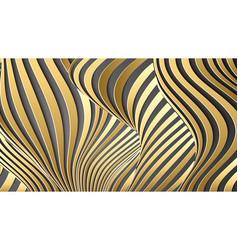 Luxury gold background wavy gold landscape vector
