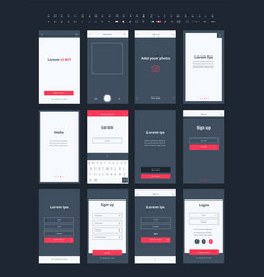 material design mail app kit for mobile vector image