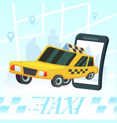 Mobile auto application transport service vector