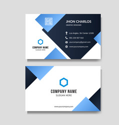 Modern blue business card background vector