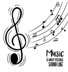 music feelings concept musical treble note vector image