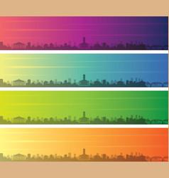 Nashville multiple color gradient skyline banner vector