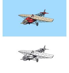 passenger airplane corncob or plane aviation vector image