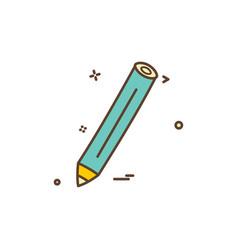 pencil pen icon design vector image