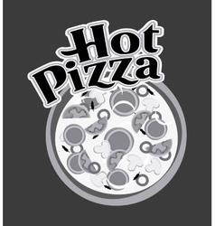 Pizza icon Fast food design graphic vector image