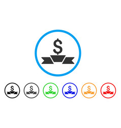 premium business ribbon rounded icon vector image