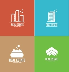 Real estate logo design set vector image