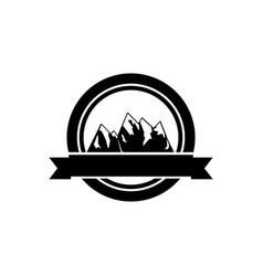 retro logo of mountains vector image
