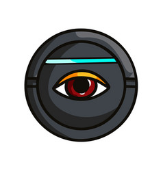 Round security device that scan human eye iris vector