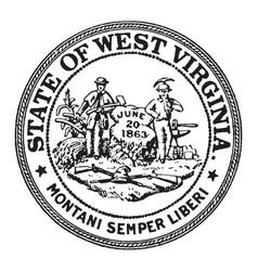 Seal state west virginia vintage vector