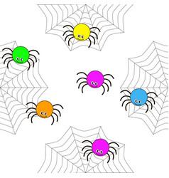 seamless texture of cartoon spiders vector image