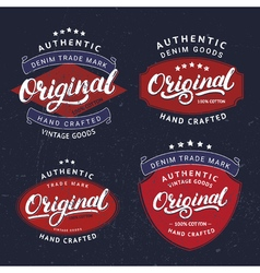 set originals hand written lettering for label vector image