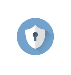 shield with keyhole icon protection and security vector image