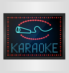Shining retro light banner karaoke on glowing back vector