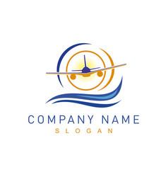 symbol plane vector image