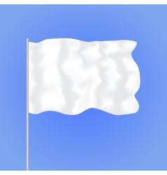 Template Blank White Flag vector image