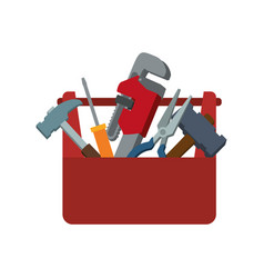 Toolbox carpentry portable vector