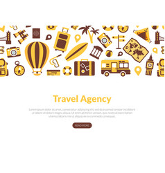 Travel agency landing page template tourism vector