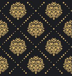 Victorian baroque pattern vector
